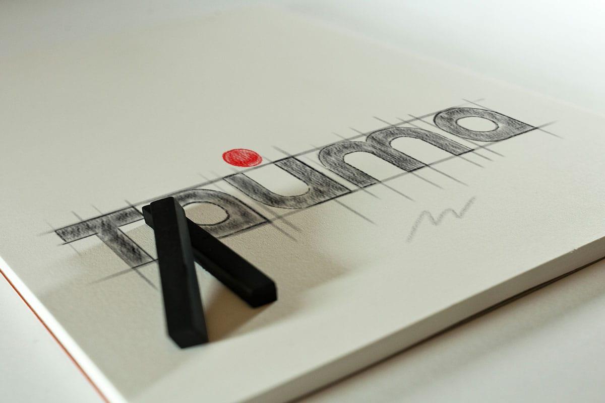 Эскиз логотипа типографии