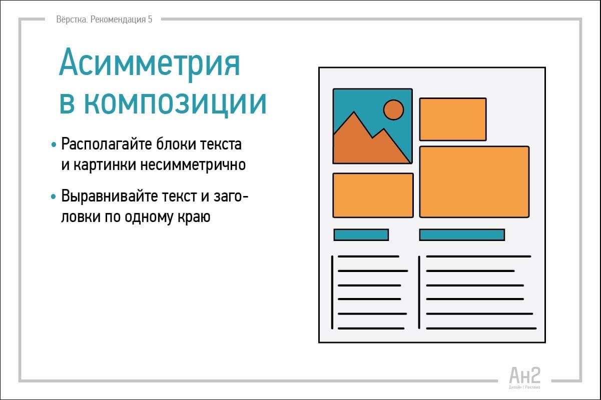 Расположение текста и картинки